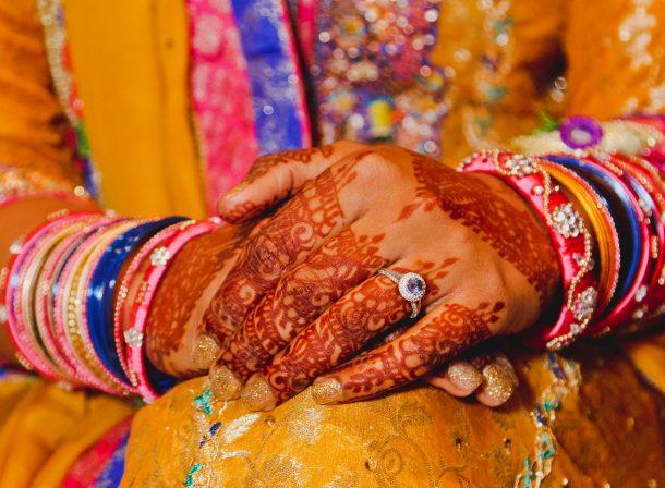 Punjabi/Indian wedding mehndi/mehendi (henna) details.