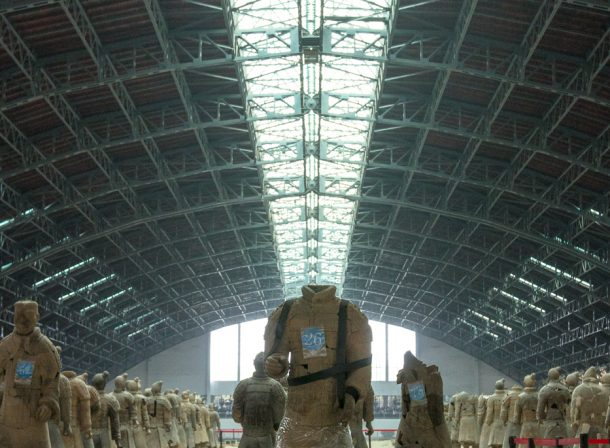 Travel photography of Terracotta Warriors in Xi'an, China.