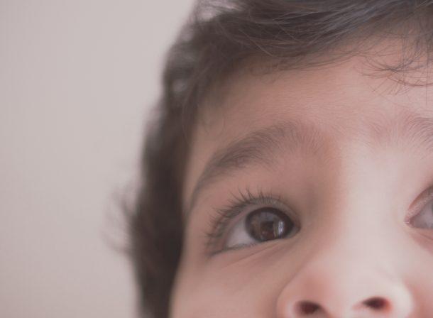 Closeup of toddler eye.