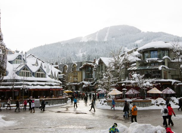 Street photography of Whistler, British Columbia in the depths of winter.