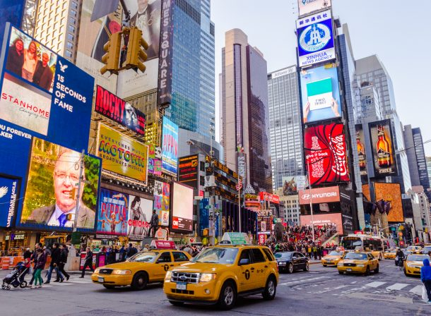 Urban HDR photography image of New York City (NYC) Times Square, New York, United States.