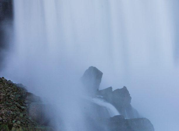 Travel long exposure photography of Niagara Falls, Ontario, Canada.